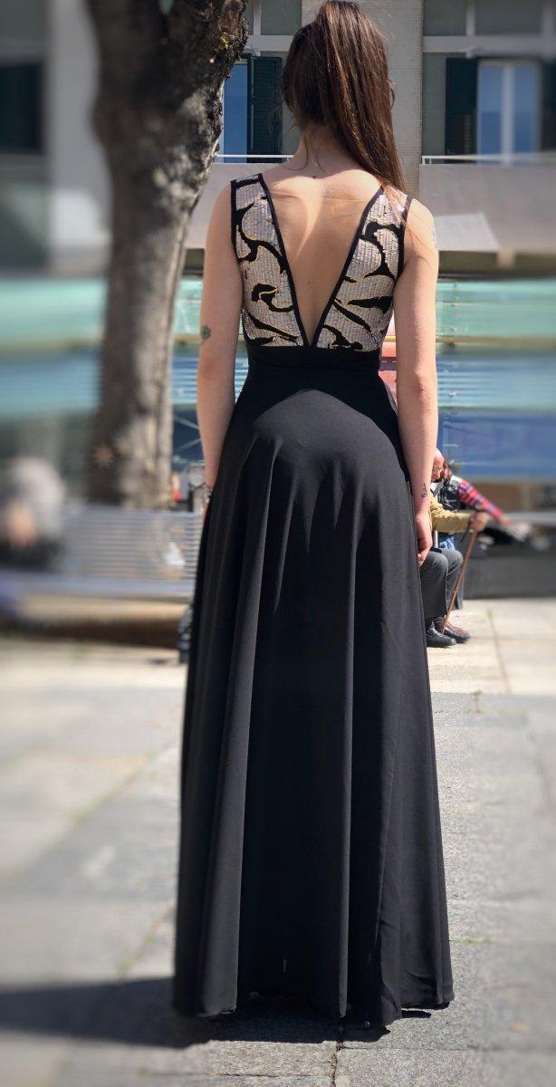size 40 869b0 f849c Vestiti donna online - Abito elegante - Abito Nero lungo ...
