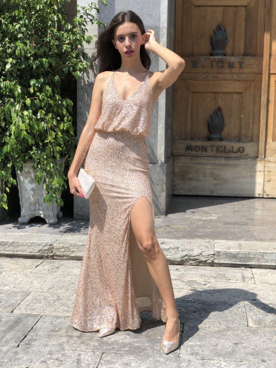 competitive price e7dbe 69191 Vestito corto elegante - In raso -Abitino rosso corto