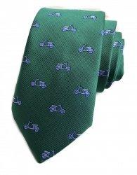 Cravatta - Uomo - Verde con disegni