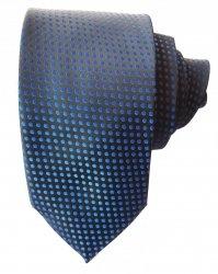 Cravatta uomo neara - Cravatte eleganti - Cravatta uomo nera a pois