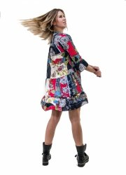 Vestini Fantasia - Vestito corto - Abitino manica lunga - Vestitini donna