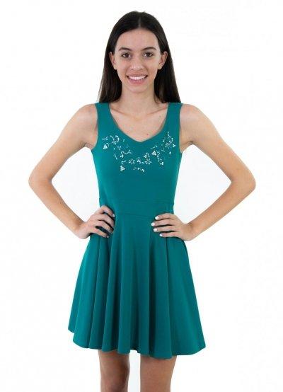 Vestito corto verde Siste's