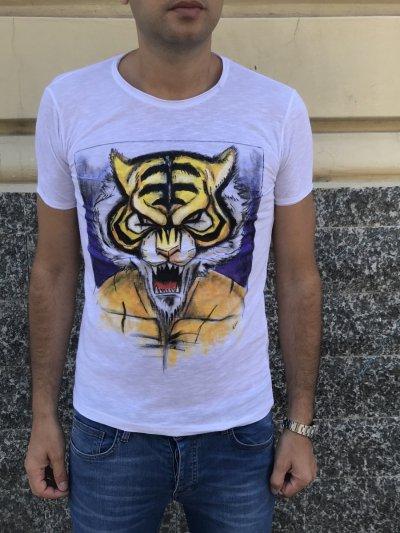 Tshirt - Uomo Tigre - 100% Cotone