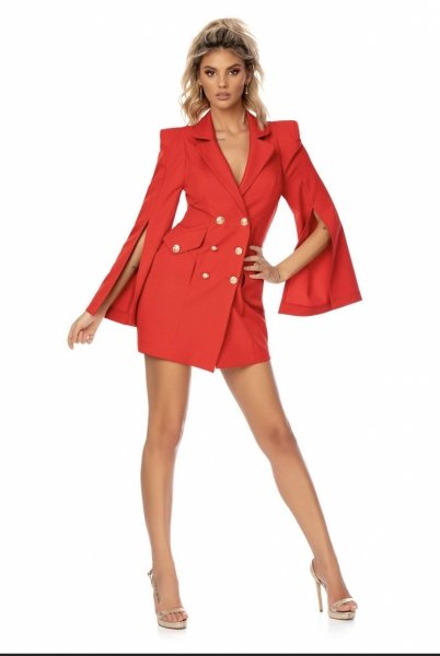Vestito blazer, rosso - Elegante