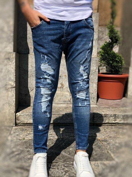 Jeans - Strappato - Jeans fino alla caviglia - Gogolfun.it