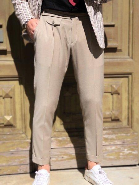 Pantaloni uomo, beige - Abbigliamento uomo gogolfun.it