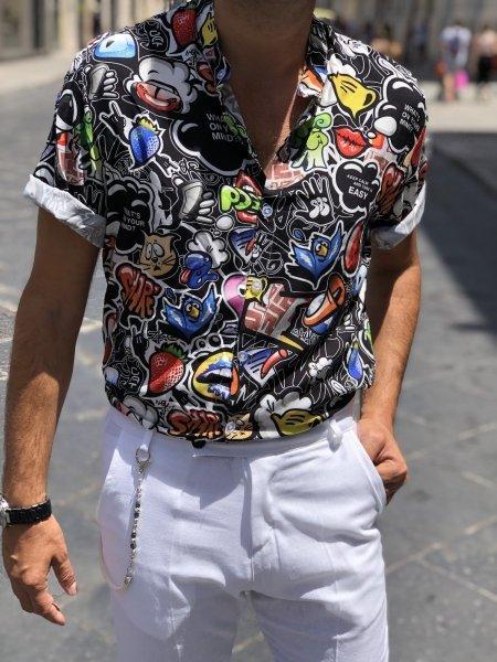 Camicia uomo particolare, mezza manica - Gogolfun.it