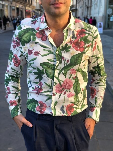 Camicia Hawaiana - Uomo - maniche lunghe - Gogolfun.it