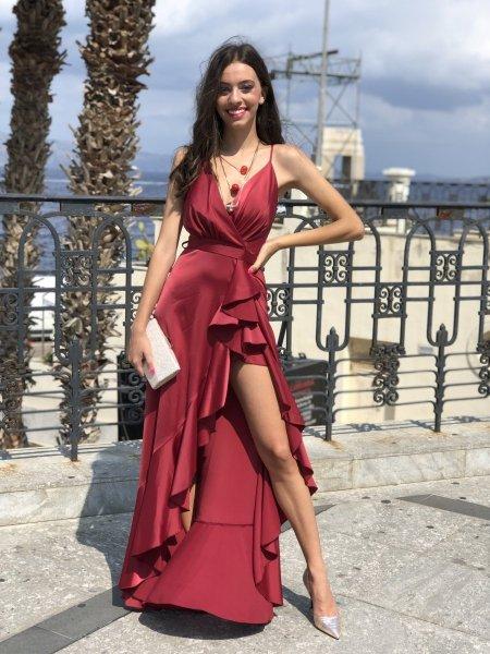 Abito da sera Marylin - Vestito rosso - Da cerimonia - Gogolfun.it