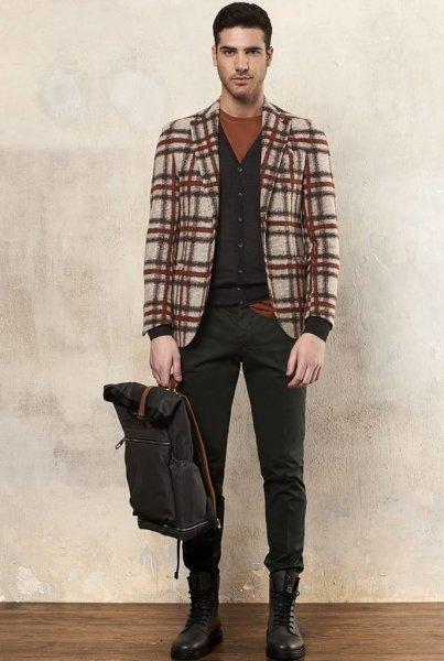 Spodnie męskie, chinos - zielone - Paul Miranda - Made in Italy - Odzież męska - Gogolfun.pl