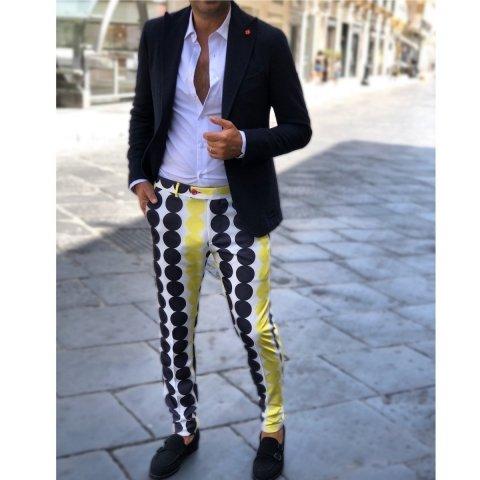Pantaloni uomo particolari, slim - Anni 60' - Gogolfun.it