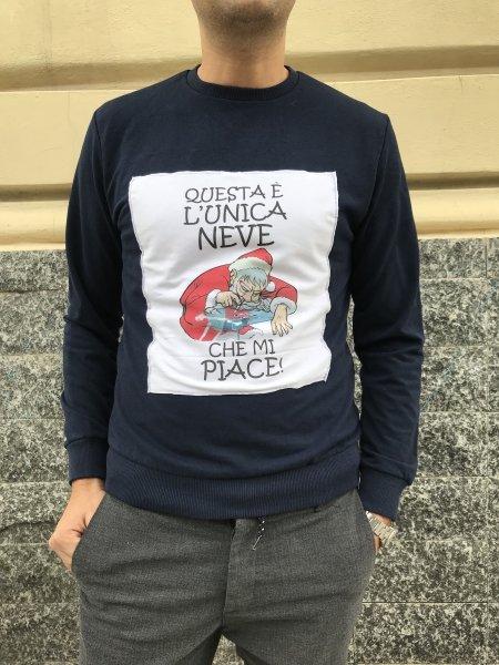 Felpa Natalizia - L'unica neve che mi piace! - Gogolfun.it