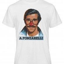 T shirt Fonzie - Bianca - Gogolfun.it