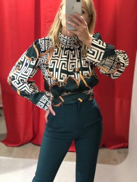 Camicia donna - Elegante - Corta - Fantasia versace - Abbigliamento donna - Gogolfun.it