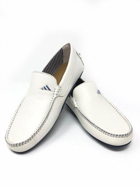 Scarpe uomo - Vera pelle bianche - Gogolfun.it