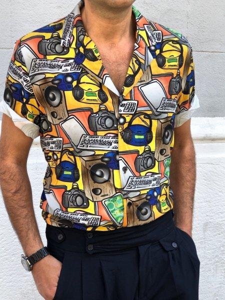 Camicia uomo particolare - Fantasia vintage - Gogolfun.it