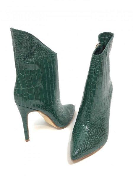 Stivaletti verdi, taco alto - Scarpe donna con tacco alto - Stivali gogolfun.it