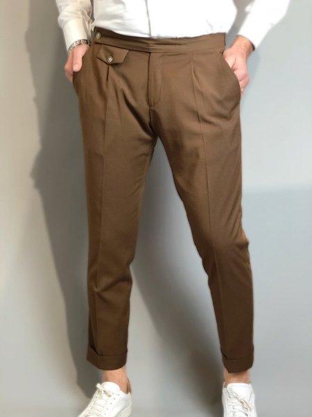 Paul Miranda - Pantaloni chino - Cammello - Made in Italy - Gogolfun.it