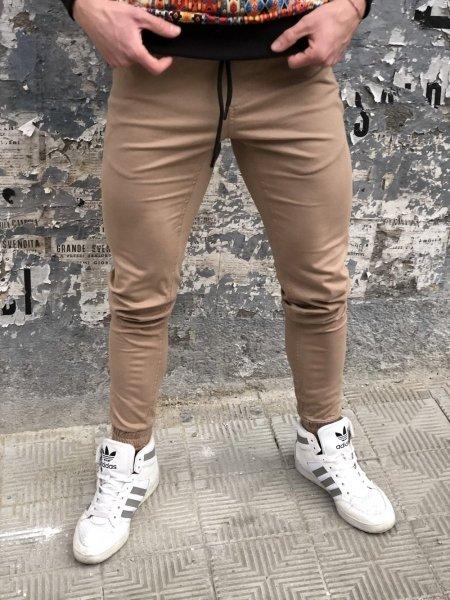Pantaloni tuta, slim colore beige - Gogolfun.it