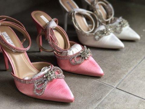 Sandały na szpilce, Różowe - Szpilki - Buty damskie - Gogolfun.it