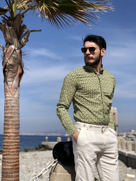 Camicia uomo - Gialla - Gogolfun.it