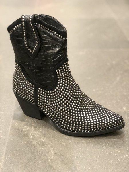 Stivali texani corti, neri - Negozio di scarpe donna Gogolfun.it