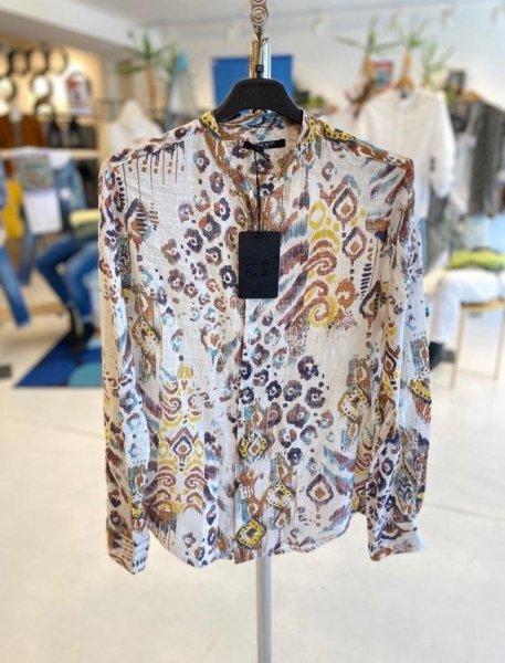 Camicia coreana fantasia - Lino - Gogolfun.it