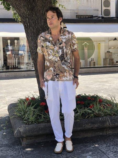 Pantaloni estivi in lino - Pantaloni uomo gogolfun.it