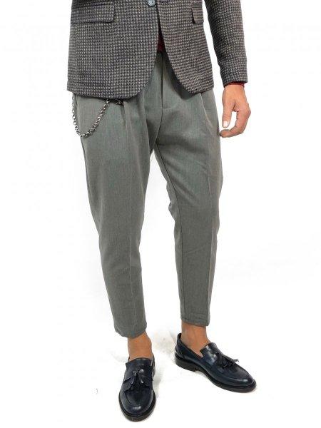 Pantaloni uomo, grigi - Abbigliamento uomo gogolfun.it