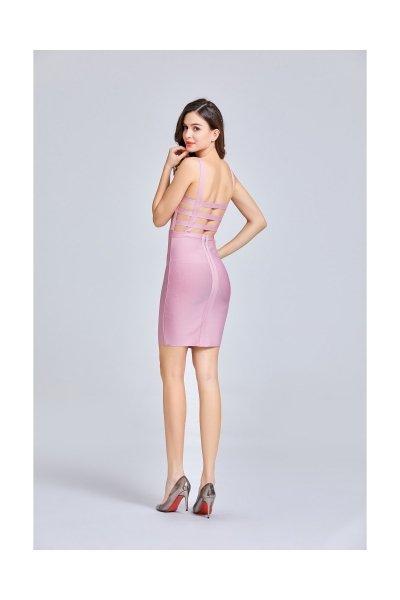 Tubino rosa aderente - Tubino rosa - Gogolfun.it