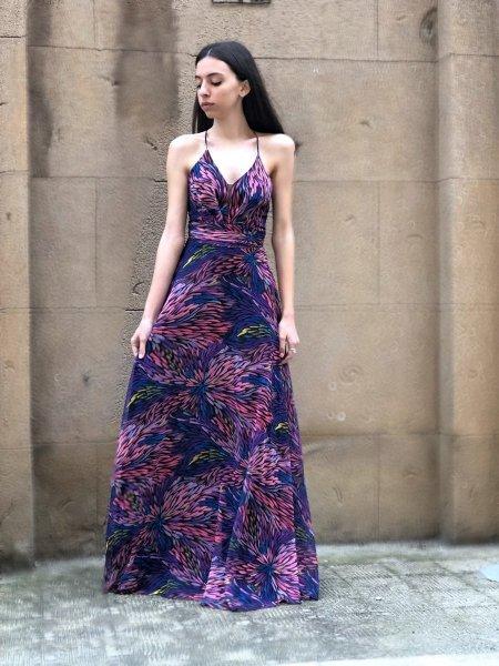 Abito elegante - Vestito donna lungo Multicolor - Sky