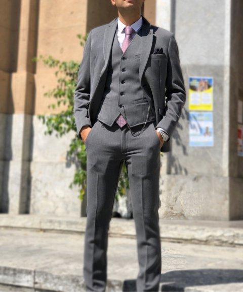 Gean Luc Paris - Gilet Grigio - Panciotto Uomo - Made In Italy