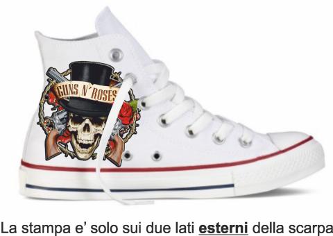 Sneakers uomo - Bianca - Gun's and Roses - Gogolfun.it