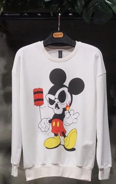 Felpe, girocollo con mickey mouse - Gogolfun.it