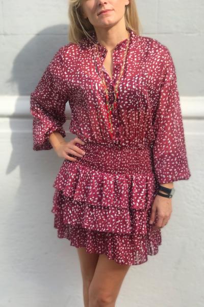 Vestito donna, corto - Manica lunga - Rosso