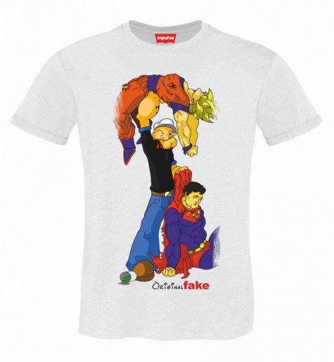 T shirt uomo - Goku Popeye Superman - Gogolfun.it