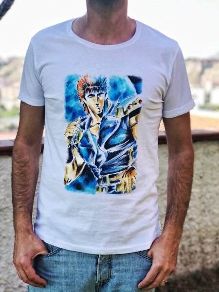 Tshirt - Kenshiro - Dipinta a mano - Gogolfun.it