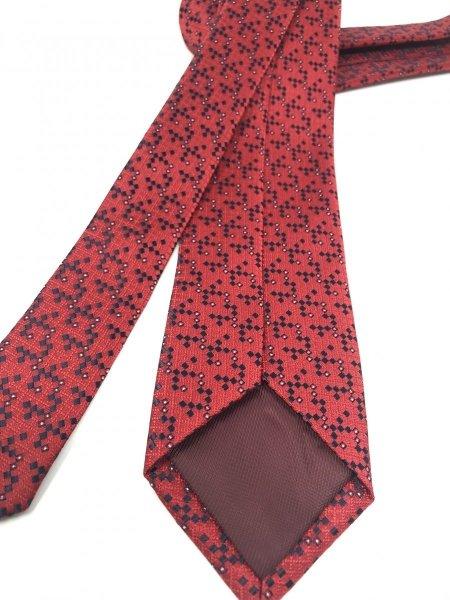 Cravatta - Rossa a pois blu - Gogolfun.it