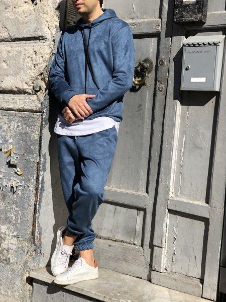 Tuta uomo, jeans -  Hoodie,  dainetto - Gogolfun.it