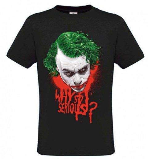 T shirt Joker - Nera - Mezza Manica - Gogolfun.it