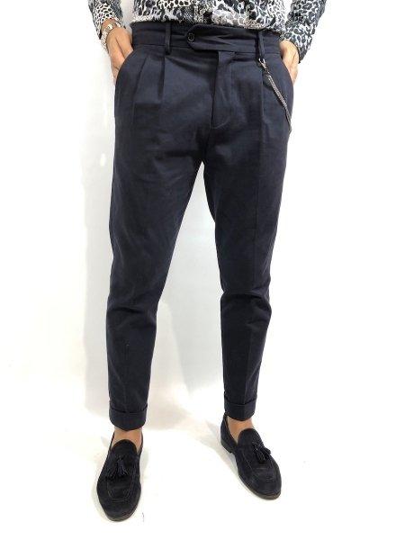 Pantaloni, uomo - Pantaloni neri con pinces - Paul Miranda - Gogolfun.it