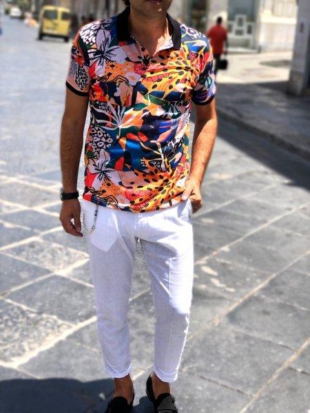 Polo uomo - Hawaiana - Slim - Abbigliamento uomo - Gogolfun.it