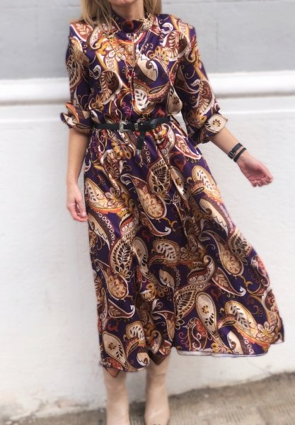 Vestito lungo, fantasia - Vestito donna,casual - abiti donna - Gogolfun.it