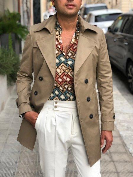 Trench uomo, Beige - Impermeabile - Paul Miranda - Abbigliamento Gogolfun.it