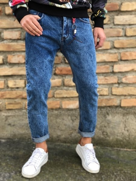Jeans uomo cropped