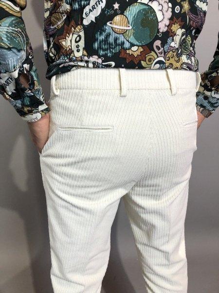 Pantaloni  bianchi, uomo in velluto - Pantaloni uomo, Paul Miranda - Gogolfun.it