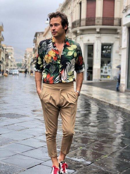 Pantaloni vita alta - Color cammello - Gogolfun.it