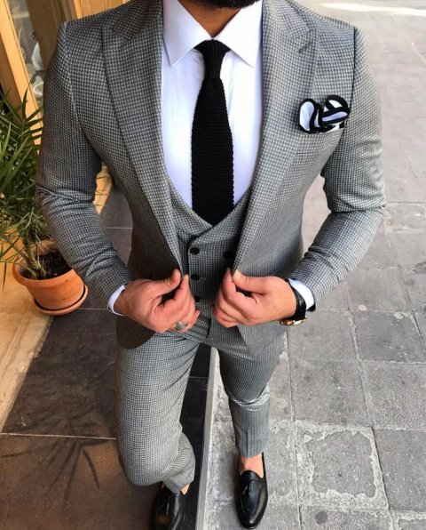 Vestiti uomo  - Grigio - Slim - Gogolfun.it