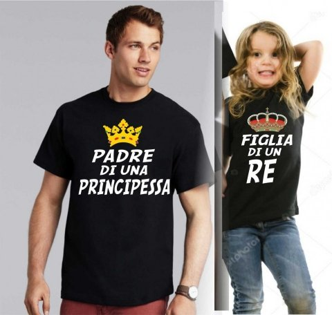 T shirt, papà e figlia - Idee regalo - Gogolfun.it