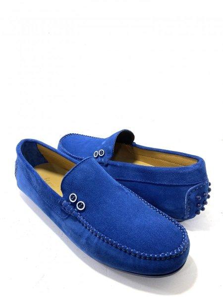 Scarpe uomo in vera pelle - Blu elettrico - Gogolfun.it